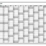 Excel-Kalender 2015 A4 quer
