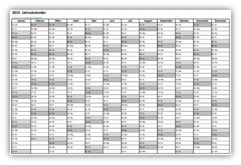 Kalender a4 querformat