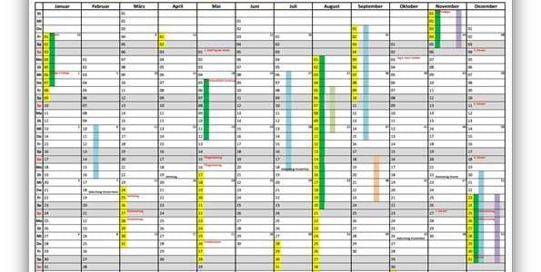 AMV-Jahreskalender 2016 ab Excel 2007