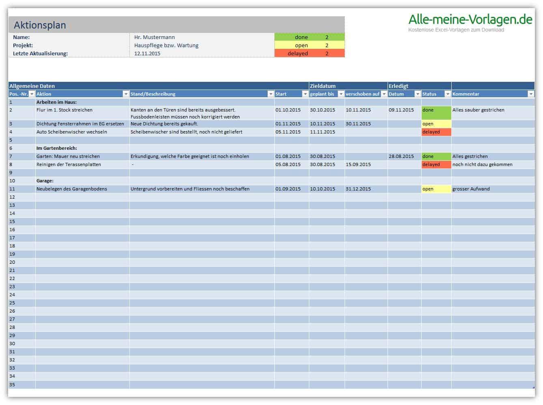 Aktionsplan | Alle-meine-Vorlagen.de