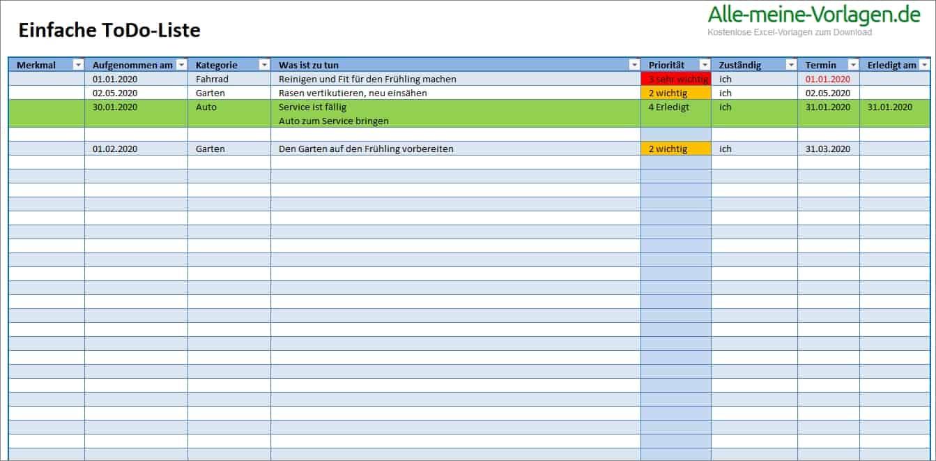 To Do Liste Vorlage Kostenlos Word Pdf 11