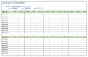 Dienstplan-Schichtplan