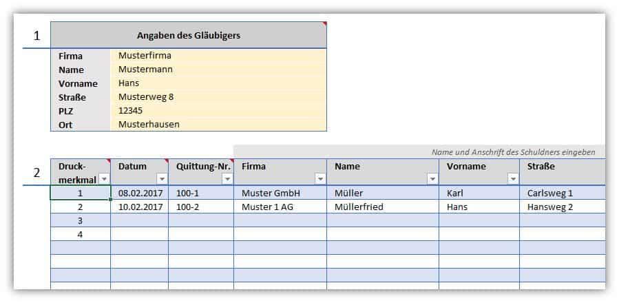 Quittung – Quittungsverwaltung als Excel-Vorlage | Alle-meine ...