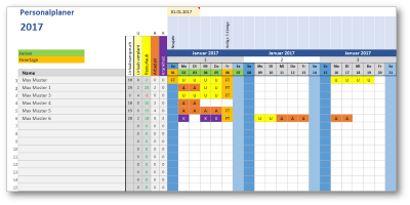 Excel Vorlage Personalplaner