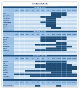 Saisonkalender - Excel