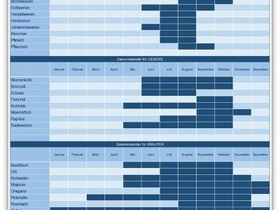 Saisonkalender Excel – Jährlich wiederkehrendes im Griff