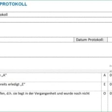 Protokoll Vorlage Word