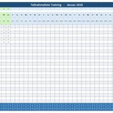 Teilnehmerliste-Training