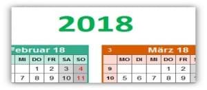 Bunter Jahreskalender mit Platz für Notizen