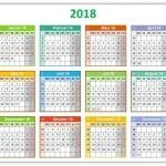 Bunter Jahreskalender