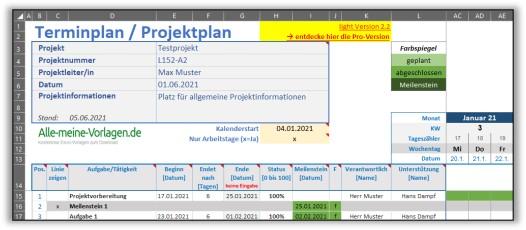 Projektplan Verantwortlichkeit