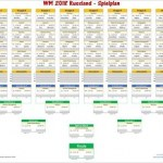 WM 2018 - Spielplan für Excel