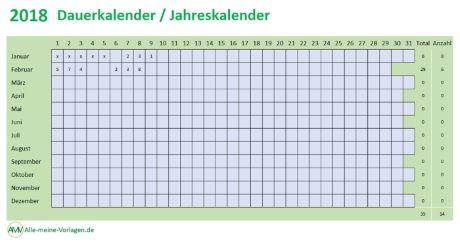 Dauerkalender, Jahreskalender, ewiger Kalender