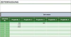 Zeiterfassung mit Excel