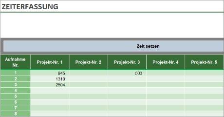 Zeiterfassung mit Excel – Tool für Projektzeiterfassung