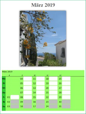 Fotokalender 2019 selbst gestalten und drucken