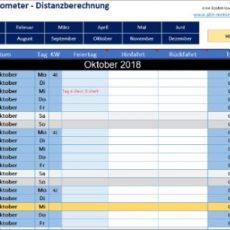 Tageskilometer - Distanzberechnung mit Excel