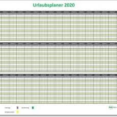 Einfacher Urlaubsplaner 2020/einfacher Ferienplaner 2020