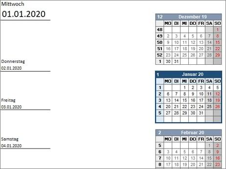 13 kostenlose Kalender Vorlagen für 2020