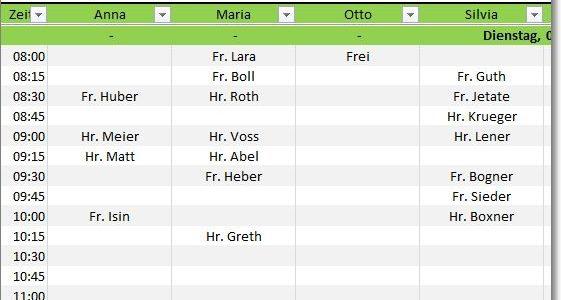 Terminplaner als Excel Vorlage