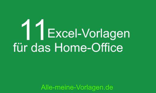 Corona – Excel Vorlagen für das Home-Office