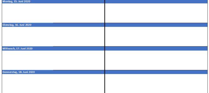 Wochenbericht Vorlage für Excel