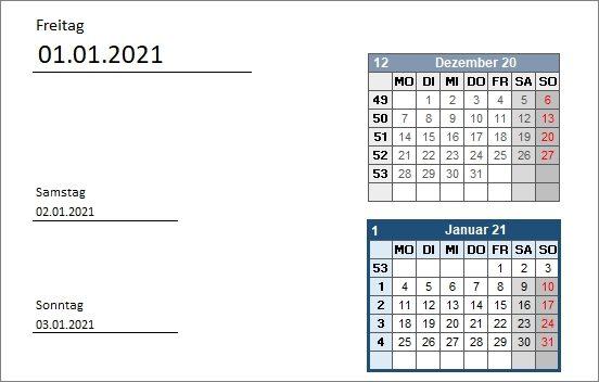 15 kostenlose Kalendervorlagen für 2021 - ToDo Tagsplaner - Wochenplaner
