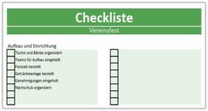 Checkliste Vorlage für Excel