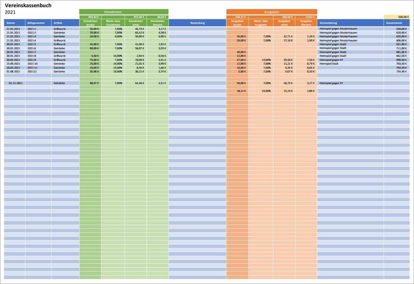 Kassenbuch Software Kostenlos Vorlage Beispiele Tipps 5