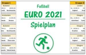 em2021: Spielplan fuer Excel