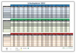 Urlaubsplaner 2022 für Excel