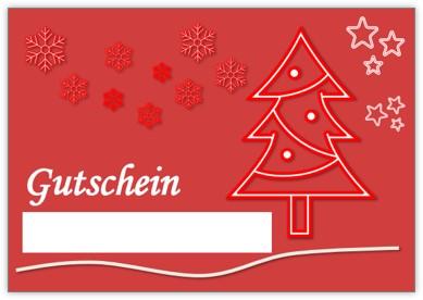 Gutschein für Weihnachten