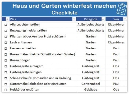 Haus und Garten winterfest machen